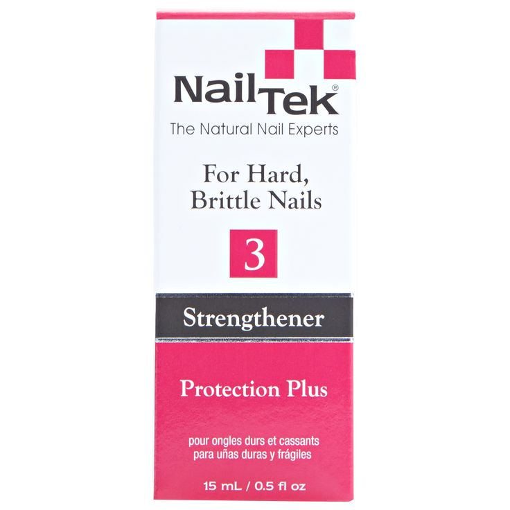 Nail Tek Protection Plus III provides extra conditioning for nails that are hard, dry and brittle.