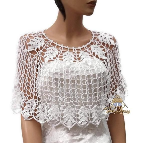 Easy Crochet Pattern with Tutorial Photos for Women's Bohemian Bridal Cover …