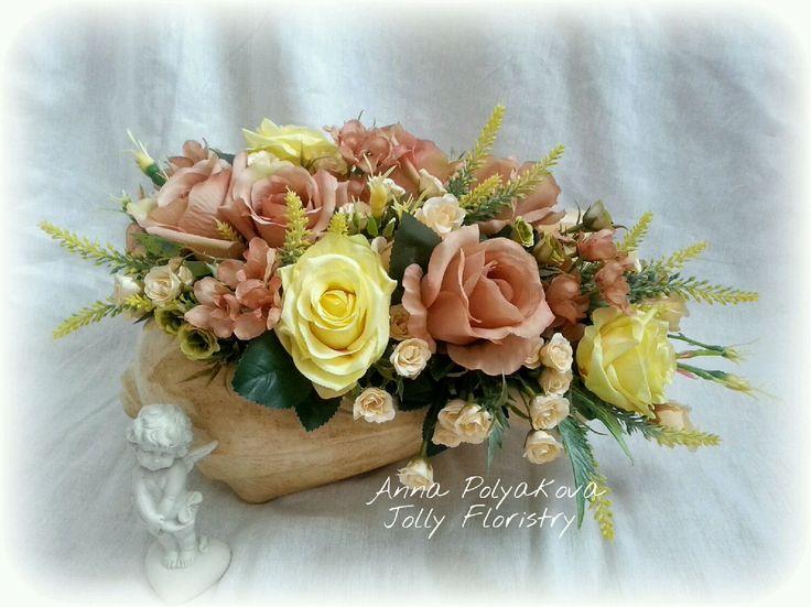 Купить Айриш в ракушке - кашпо ракушка, ракушка, ваза, ваза для цветов, интерьерный букет