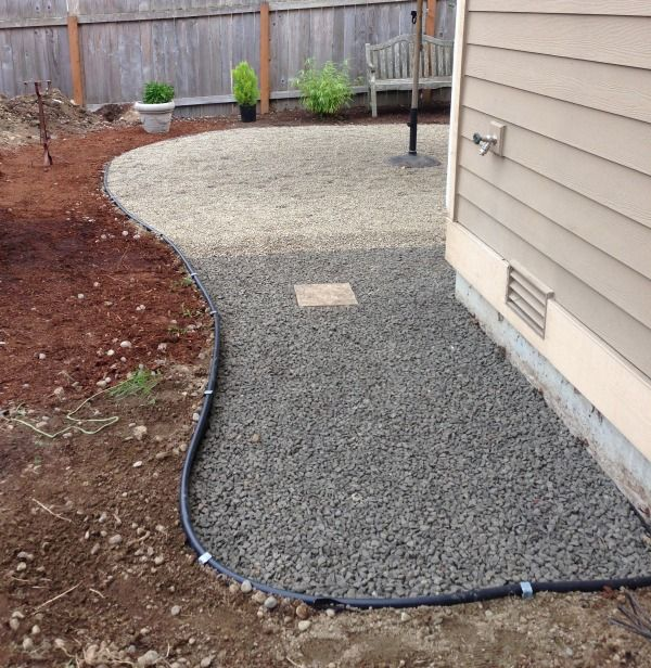 pea gravel pathway (might be food for our backyard)