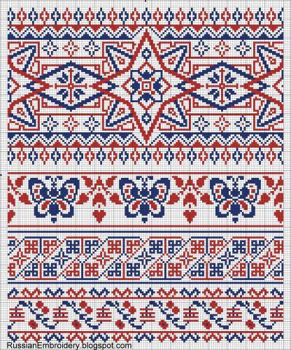 """Старинные схемы для вышивания: Орнаменты. Листовка Т-ва """"Брокар и Ко"""""""