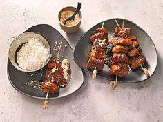 Geflügel - Satay - Spieße mit Reis