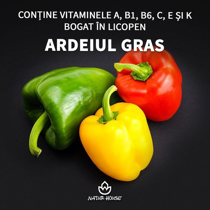 Indiferent că este roșu, galben sau verde, ardeiul gras este bogat în vitamine și sărac în calorii, contribuind la menținerea greutății sănătoase. Ardeiul conține vitamine, fibre, acid folic, potasiu, dar și licopen, un antioxidant foarte puternic. #dietă #legume #sănătate #nutriție