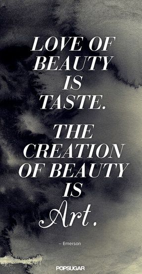 : The notion of beauty in truly poetic form.