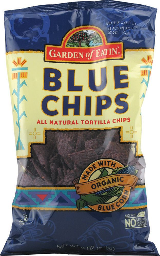 Garden Of Eatin Organic Blue Tortilla Chips 9 Oz