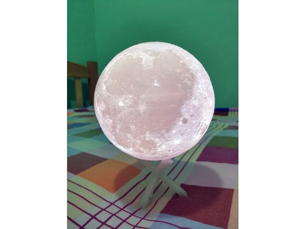 Moon Lamp By Windoac Thingiverse 3d Printer 3d Printing Prints