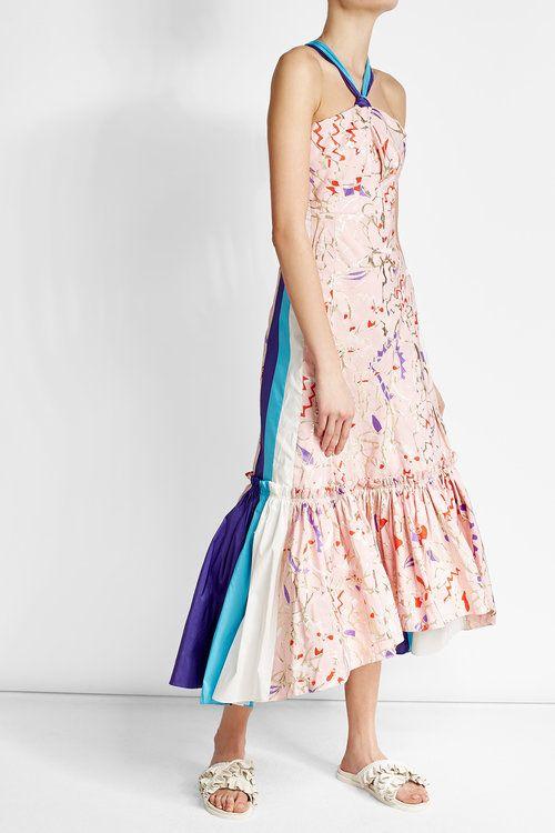Печатных платье с оборками   Питер Пилотто