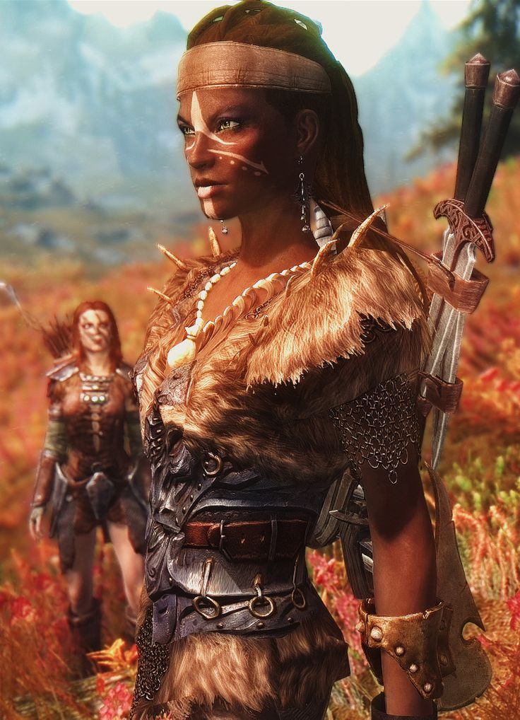 Lol this reminds me of Flaxx but peep Aela the Huntress in the back (This is a shot from Skyrim near Whiterun)