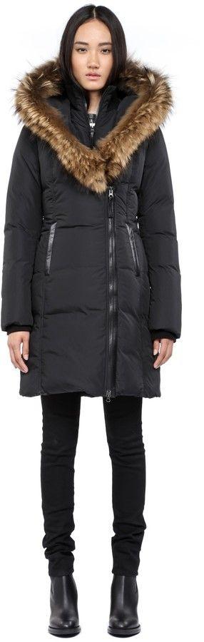 Mackage Kay-F4 Long Black Winter Down Coat With Fur Hood on shopstyle.com