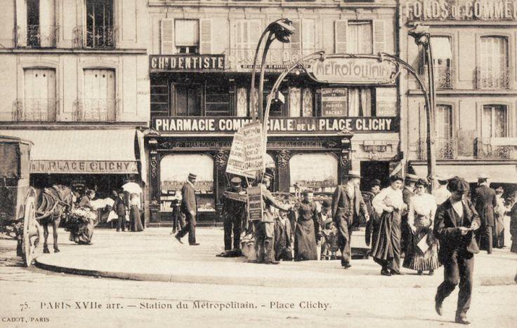 remontons du m tropolitain pour d couvrir la place de clichy vers 1905 paris 8e 9e 17e 18e. Black Bedroom Furniture Sets. Home Design Ideas