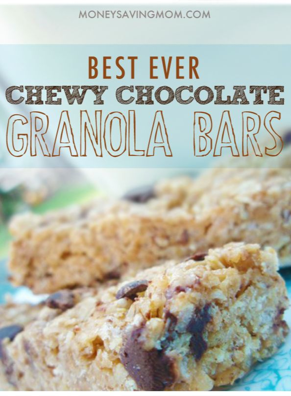 Chewy No Bake Granola Bars -- these are the best granola bars I've ever had!