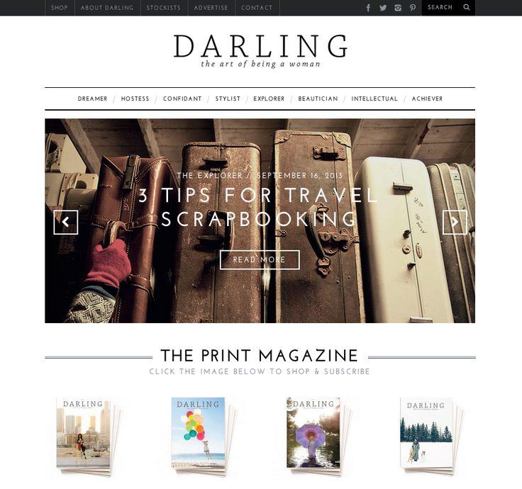Darling Online Makeover // www.thoughtsbynatalie.com #darlingmagazine #design