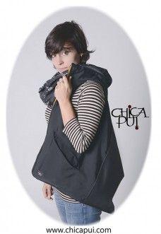 Bag with hood, borsa con cappuccio, scarf