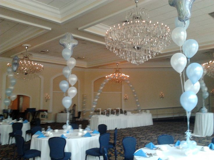 729 best baby baby shower christening ideas for Balloon decoration ideas for christening