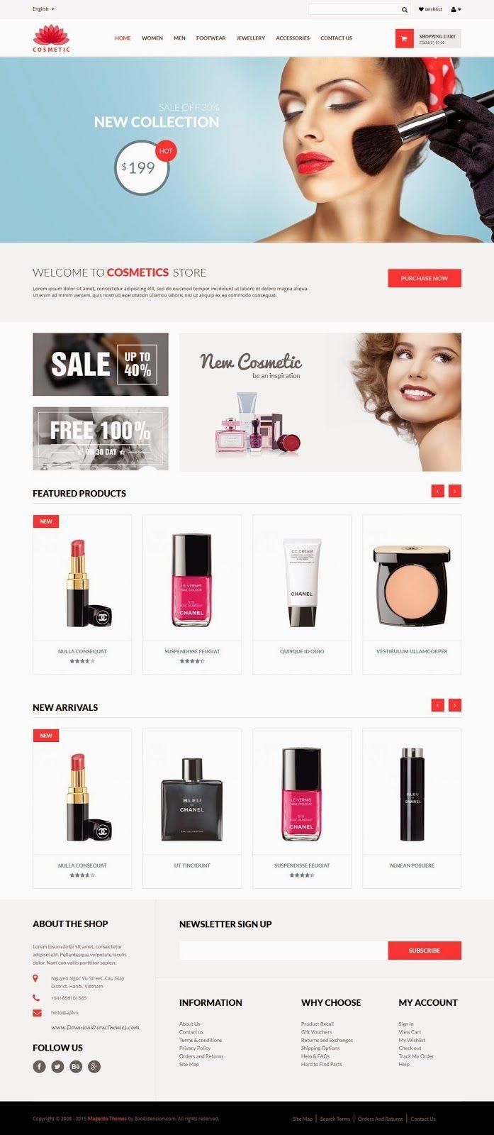 MT Cosmetic Elegant Responsive Magento Theme