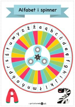 Spinner z alfabetem - wersja kolorowa - Printoteka.pl