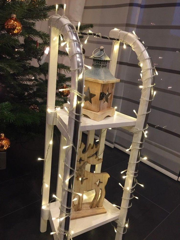 weihnachtsdeko schlitten mit lichterkette ideen f r jede jahreszeit pinterest. Black Bedroom Furniture Sets. Home Design Ideas
