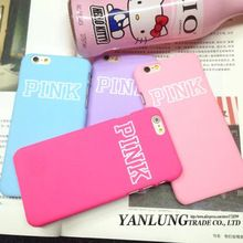 Fashion Colorful PINK Coque for iPhone 5 5s 6 6S Plus Victoria/'s Secret Matte PC Hard Cover Macarons Design Classic Phone Cases(China (Mainland))