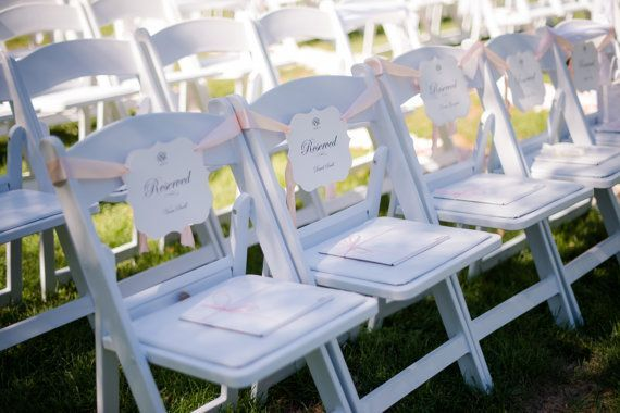 Reserved Seating Pew Signs for the Bride and Groom's Family Seating during Your Wedding Ceremony Great Selection of Colors