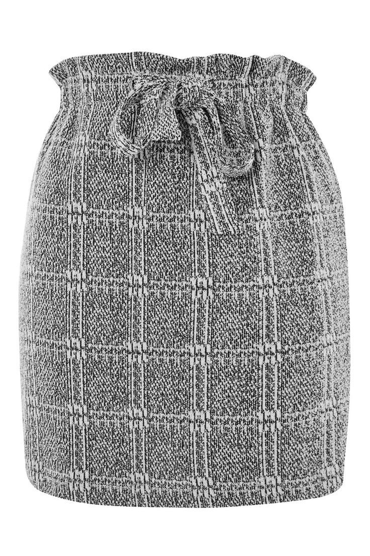 Textured Check Paperbag Mini Skirt - Topshop Europe