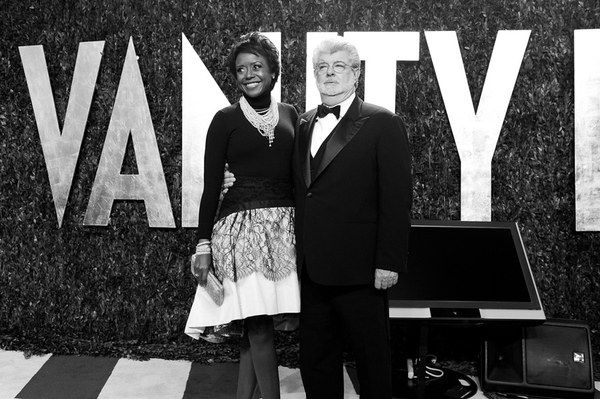 Mellody Hobson and George Lucas. By Billy Farrell/BFANYC.com.