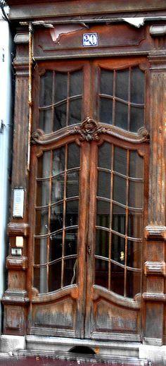 Art Nouveau door in France.