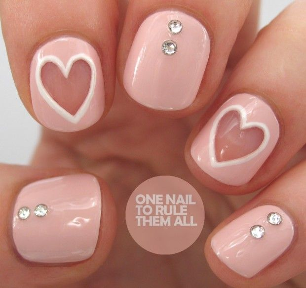 22 Sweet and Easy Valentine's Day Nail Art Ideas http://www.pinterest - Best 25+ Valentine Nail Art Ideas On Pinterest Valentine Nails