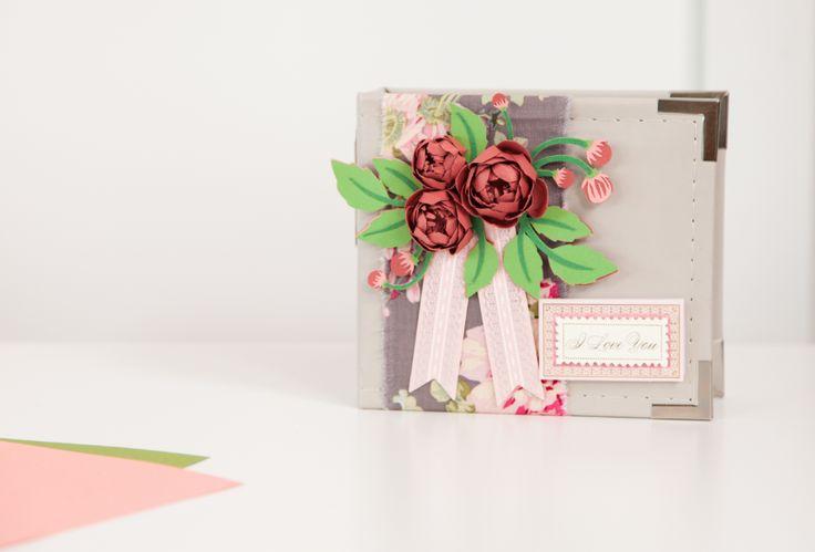 3D Floral Home Decor Cricut cartridge -- Mini floral album