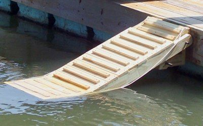 Doggie ladder for floating dock@Ada