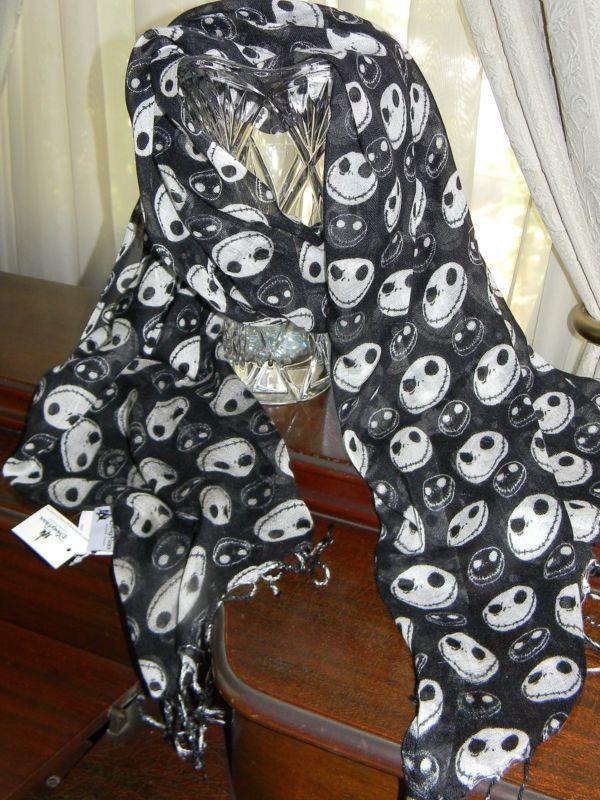 Disney Nightmare Before Christmas JACK SKELLINGTON SCARF Costume NBC 70