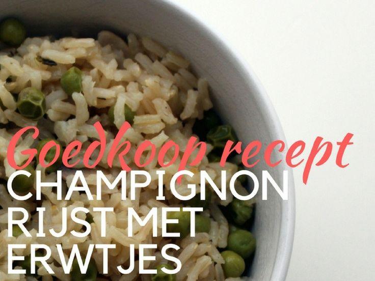 Goedkoop recept: champignonrijst met erwtjes - Two Pennies