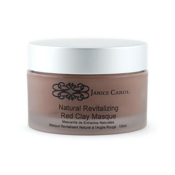 Natural Revitalising Red Clay Masque – Janice Carol Cosmetics