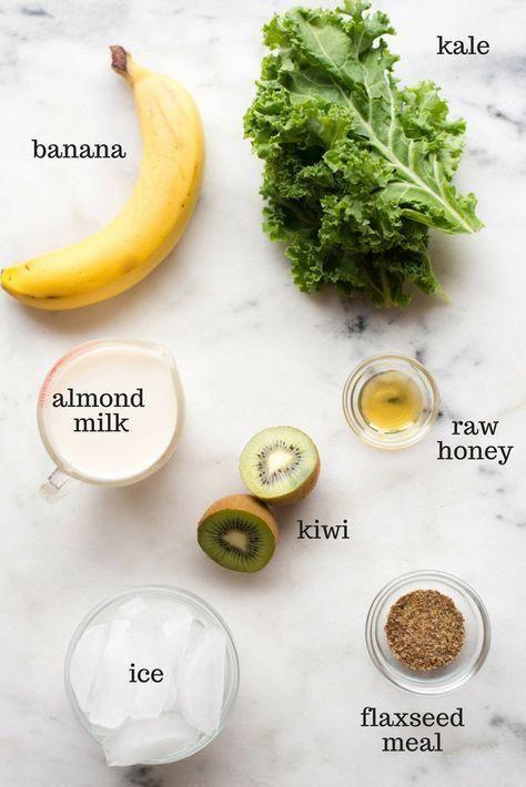 Kiwi und Grünkohl Smoothie | Dieser Kiwi & Grünkohl Smoothie ist so einfach zu …   – breakfast smoothie ideas