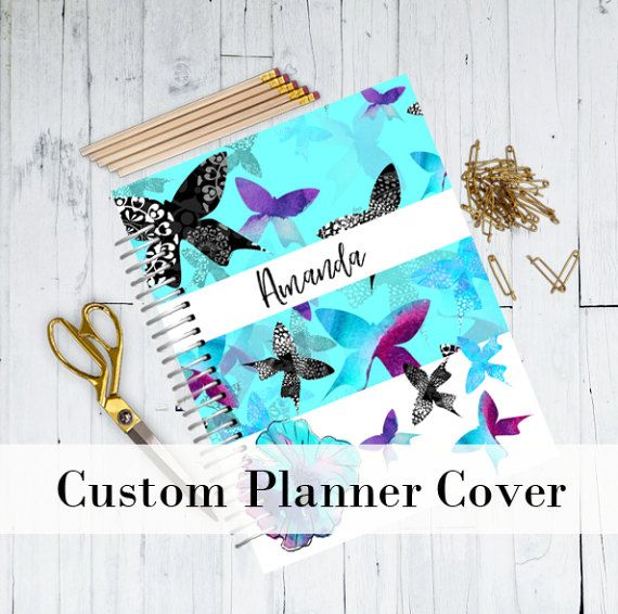 Personalized Planner Cover  Watercolor Planner by BestPlannerDecor