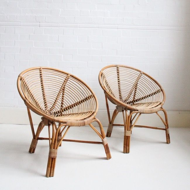 Awesome Image of midcentury Dutch cane chairs