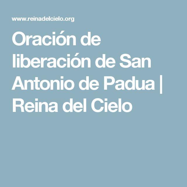Oración de liberación de San Antonio de Padua | Reina del Cielo