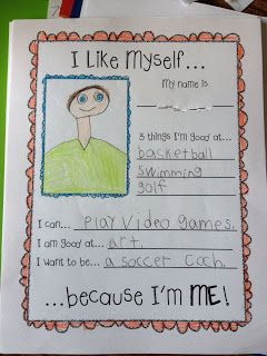 "Back to school activity with the book ""I Like Myself!"""