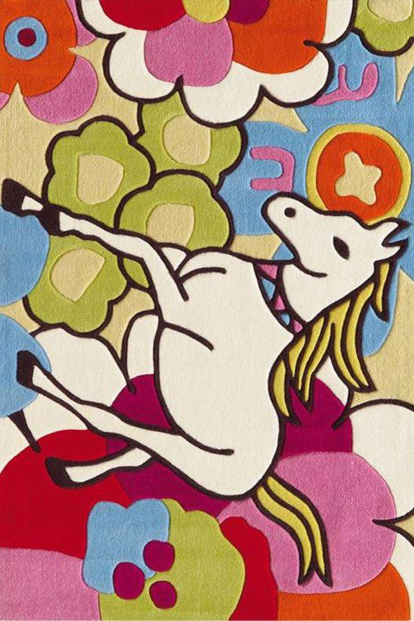 bene Multicolore Bambini Tappeti KD-962150 X 240 CM ( 5'x8′ ) | Arts of India – Italy