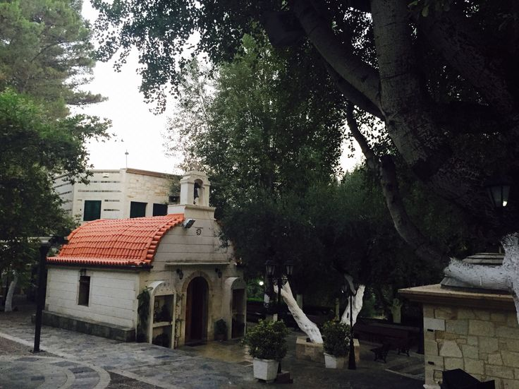 Beautiful church hidden in trees!! Find your treasures in Crete!! #crete #chania #church #ecorentals