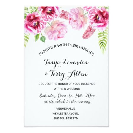 Pretty floral wedding wedding party invites - tap, personalize, buy right now!
