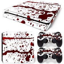 Sony PS4 Playstation 4 Slim Skin Sticker Screen protector Set - Blood Motiv