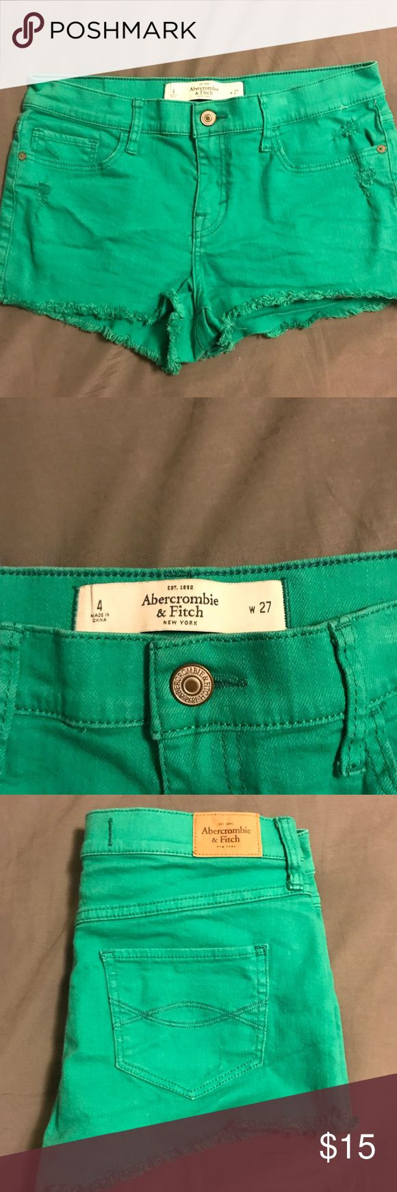Abercrombie and Fitch shorts Green Abercrombie and Fitch shorts  Just in time for St. Patrick's Day  Great condition no stains or defects Abercrombie & Fitch Shorts Jean Shorts