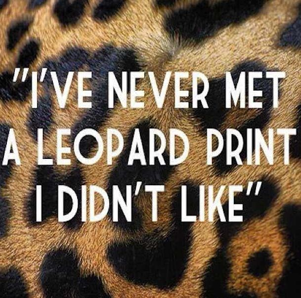 "*((*Leopard is my favorite ""color""!!*))*"