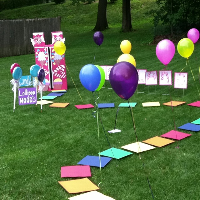Backyard Life Size Candyland Game