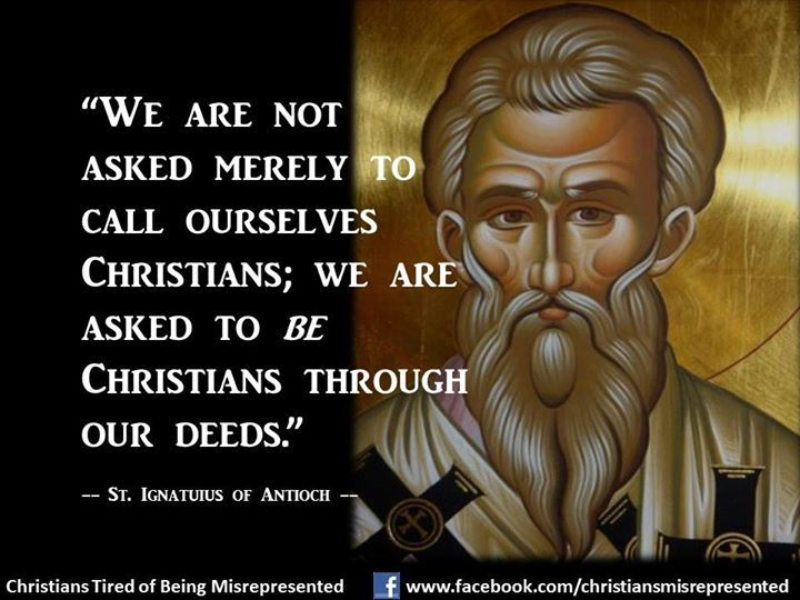 St. Ignatius of Antioch (50 – 117 C.E.) • One of the earliest Church Fathers. Ignatius was a Christian martyr, arrested by provincial authorities under the Emperor Trajan and torn apart by wild beasts in the Colosseum for the amusement of the Roman mob.