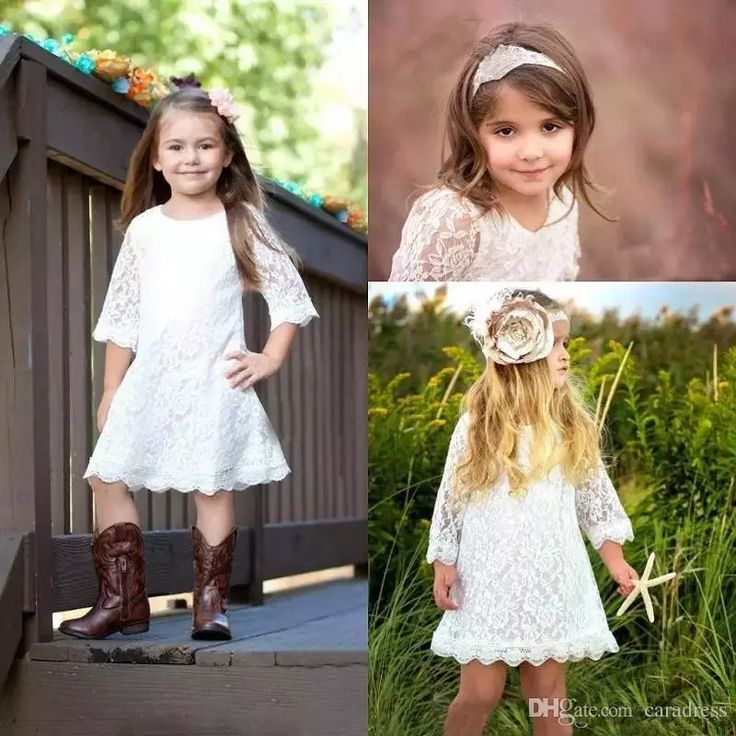 2017 Awesome Country Lace White Flower Girls Dresses for Weddings Jewel A Line Knee Length Kids Birthday Party Gowns Sleeves Communion Dress Flower Girls Dresses for Weddings Flower Girl Dresses Children Cheap Girls Dresses Bling Online with $97.5/Piece on Caradress's Store | DHgate.com