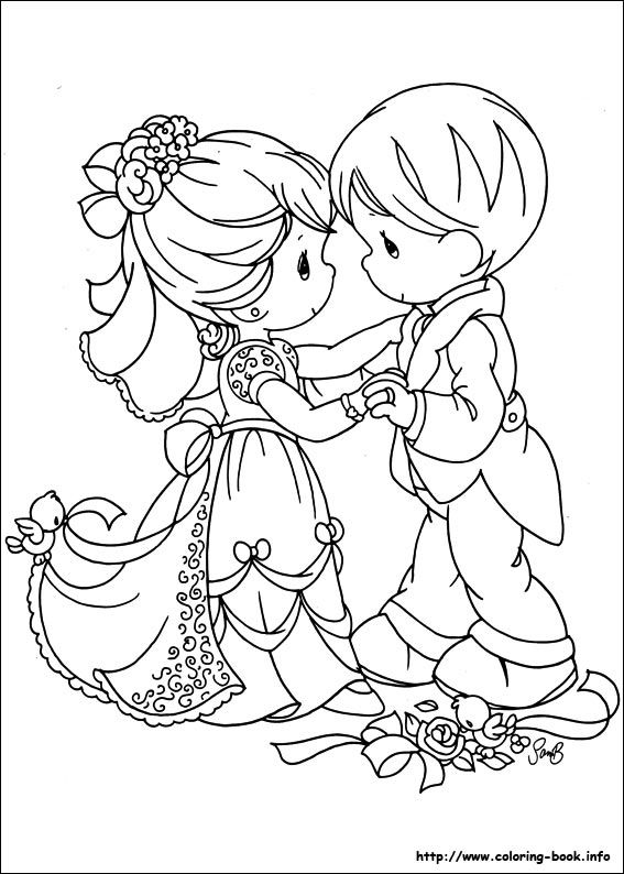 precious moments wedding coloring pages - photo#11