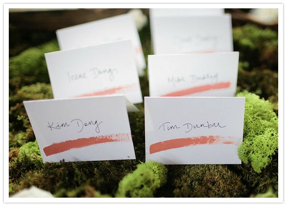 © Troy Grover Photographers / painterly escort cards