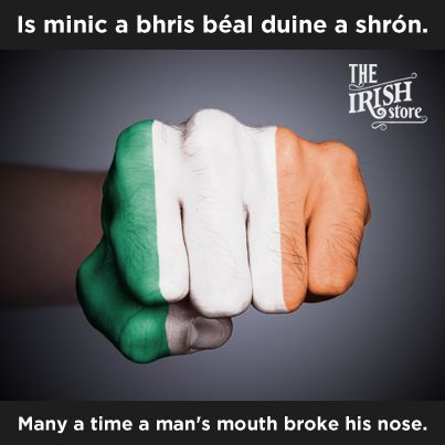 Many a time a man's mouth broke his nose