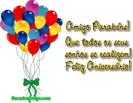Mensagem Feliz Aniversario Amiga: 1000+ Ideas About Aniversário Amigo On Pinterest